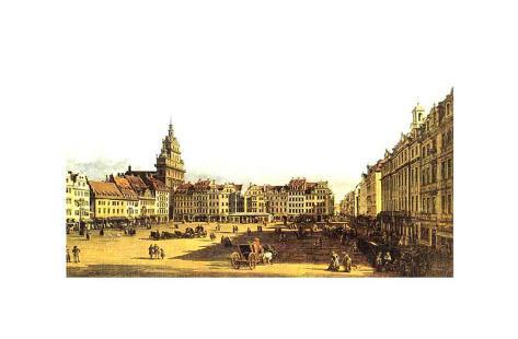 Dresden Altmarkt Art Print
