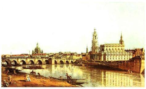 Dresden Elbufer Art Print