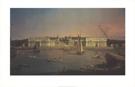 Greenwich from the Isle of Dogs Art Print