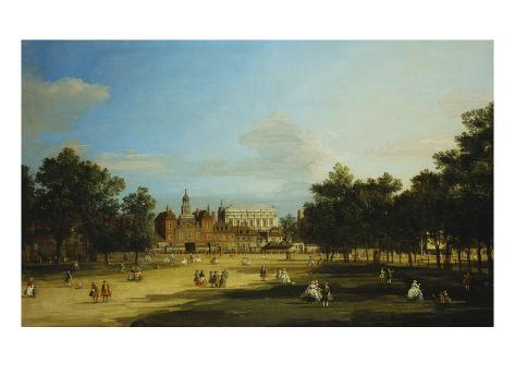 London: the Old Horse Guards and the Banqueting Hall, Whitehall, from St. James's Park, with… Giclee Print