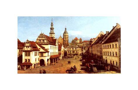 Marktplatz Zu Pirna Art Print