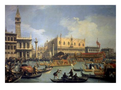 The Betrothal of the Venetian Doge to the Adriatic Sea Premium Giclee Print