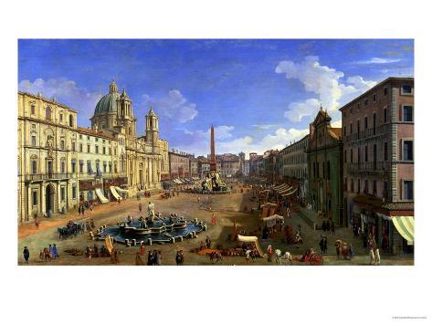 View of the Piazza Navona, Rome Giclee Print
