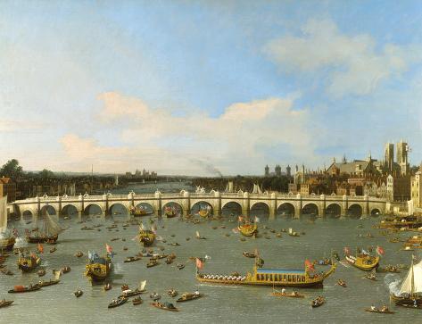 Westminster Bridge, London, Art Print