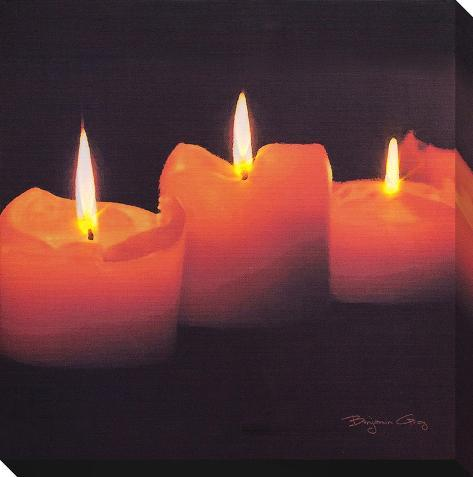 Candle Light Stretched Canvas Print
