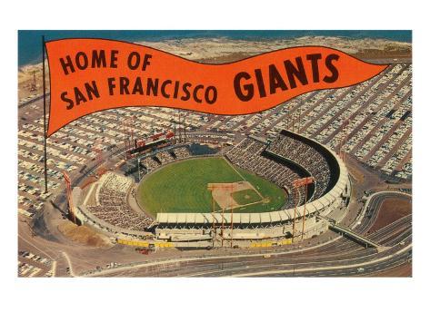 Candlestick Park, Giant's Pennant, San Francisco, California Art Print