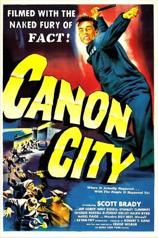 CANON CITY, US poster, Scott Brady, 1948 Taidevedos