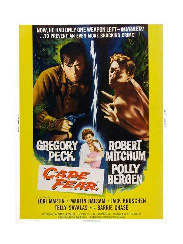 Cape Fear, Gregory Peck, Polly Bergen, Lori Martin, Robert Mitchum, 1962 Art Print