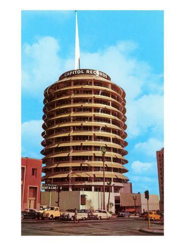 Capitol Records Building, Los Angeles, California Art Print