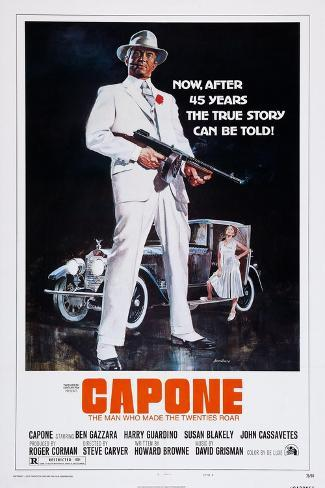 Capone, Front: Ben Gazzara; Back: Susan Blakely, 1975 Art Print