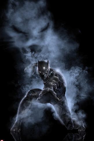 Captain America: Civil War - Black Panther Metal Print