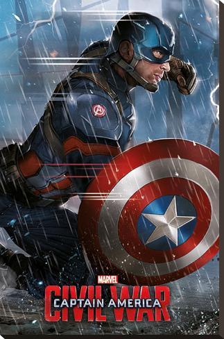Captain America Civil War- Captain America Stretched Canvas Print