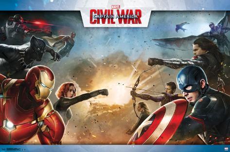 Captain America Civil War- Clash Of Heroes Pôster