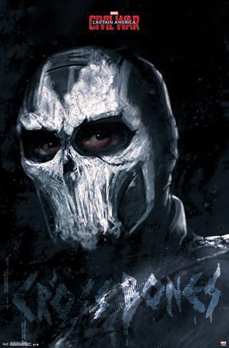 Captain America Civil War- Cross Bones Pôster