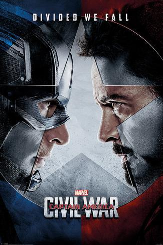 Captain America Civil War- Face Off Poster