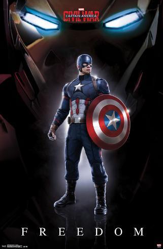 Captain America Civil War- Freedom Lamina Framed Poster