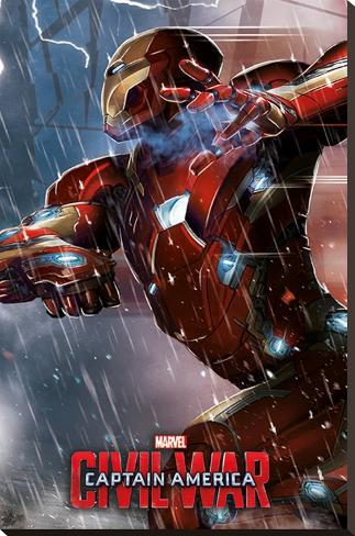 Captain America Civil War- Iron Man Stretched Canvas Print