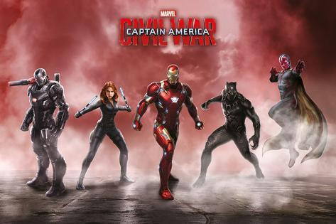 Captain America Civil War- Team Iron Man Poster