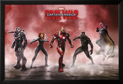 Captain America Civil War- Team Iron Man Lamina Framed Poster