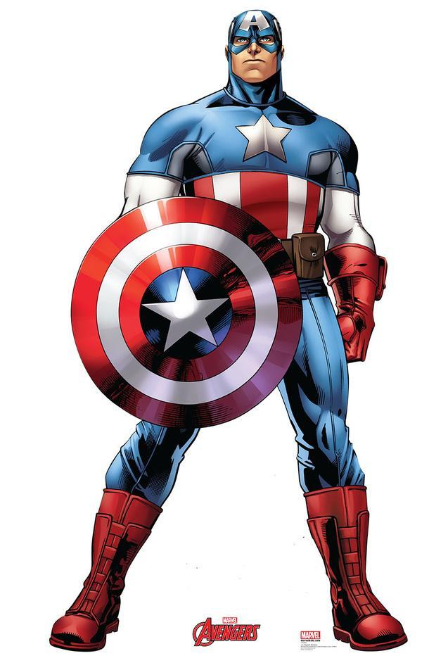 Captain America - Marvel Avengers Assemble Lifesize Standup Cardboard  Cutouts at AllPosters.com 03b412a7a8e2