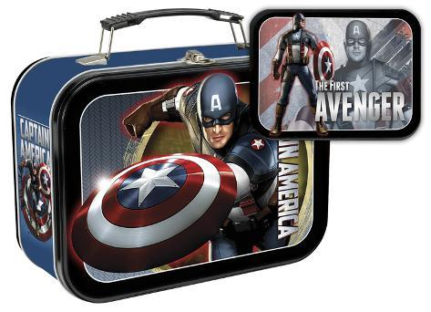 Captain America: The First Avenger Large Tin Lunch Box Lunch Box