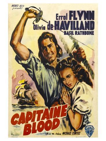 Captain Blood, German Movie Poster, 1935 Art Print