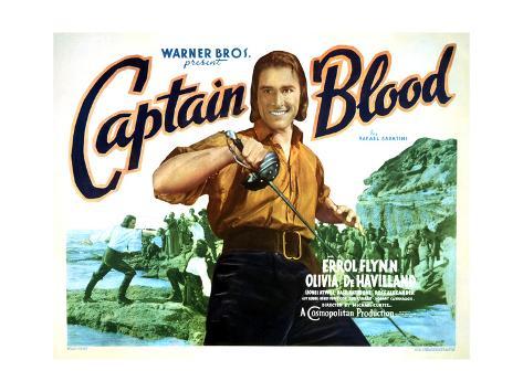 Captain Blood - Lobby Card Reproduction Art Print