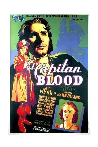 Captain Blood - Movie Poster Reproduction Premium Giclee Print