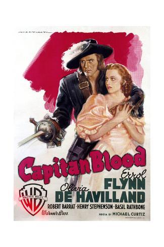 Captain Blood - Movie Poster Reproduction Stampa artistica