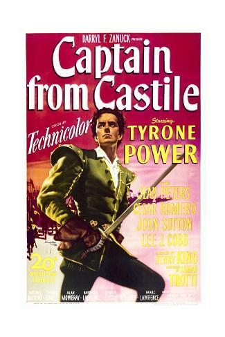 Captain from Castile - Movie Poster Reproduction Stampa artistica