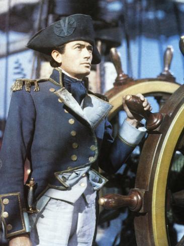 Captain Horatio Hornblower, Gregory Peck, 1951 Photo