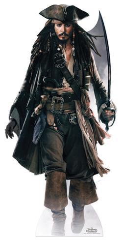 Captain Jack Sparrow (Sword) Cardboard Cutouts