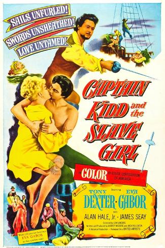 Captain Kidd and the Slave Girl Art Print