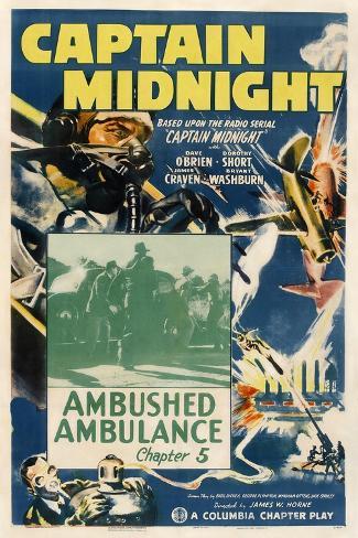 Captain Midnight Art Print