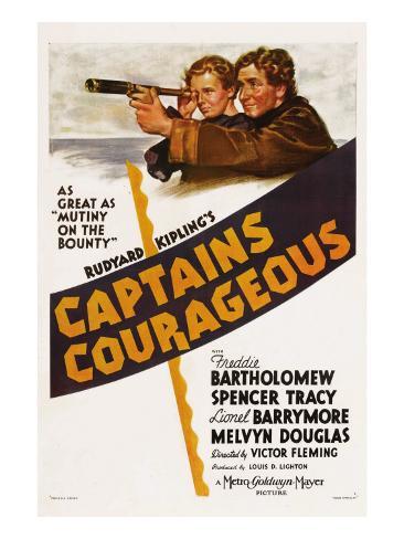 Captains Courageous, Freddie Bartholomew, Spencer Tracy, 1937 Photo
