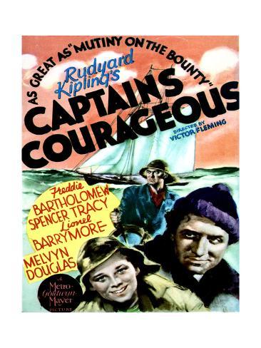 Captains Courageous - Movie Poster Reproduction Art Print
