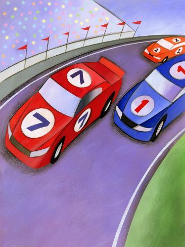 Car Race with Spectators Photo