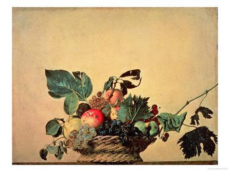Basket with Fruit, circa 1596 Giclee Print