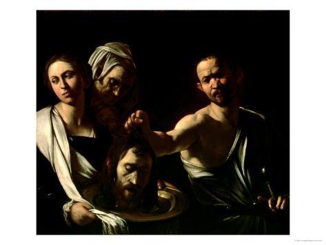 Salome Receives the Head of Saint John the Baptist, 1607-10 Giclee Print