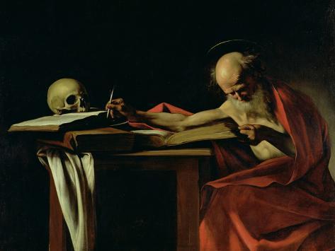 St. Jerome Writing, circa 1604 Giclée-vedos