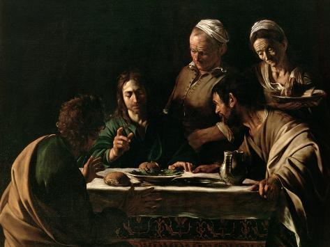 Supper at Emmaus, 1606 Giclée-vedos
