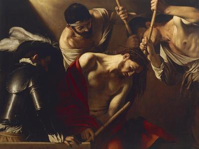 The Crowning with Thorns Giclee Print by Caravaggio at ...