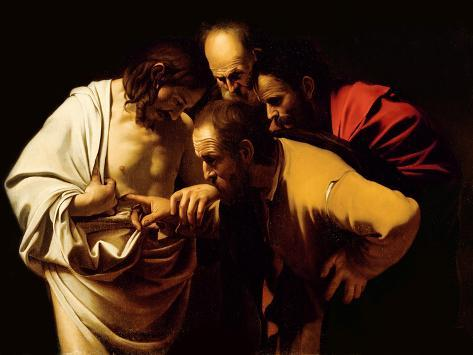 The Incredulity of St. Thomas, 1602-03 Giclée-vedos