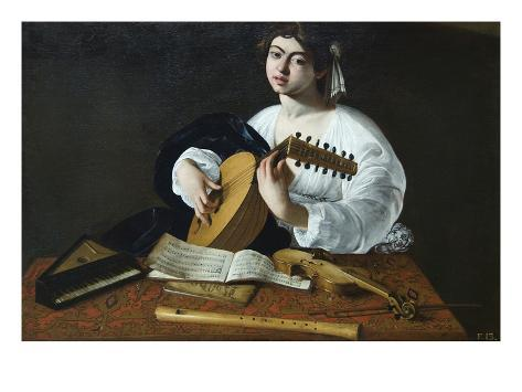 The Lute Player Art Print