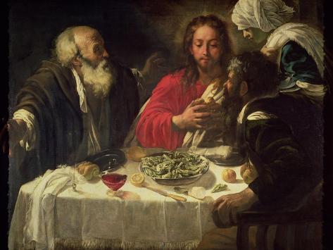 The Supper at Emmaus, circa 1614-21 Giclee Print