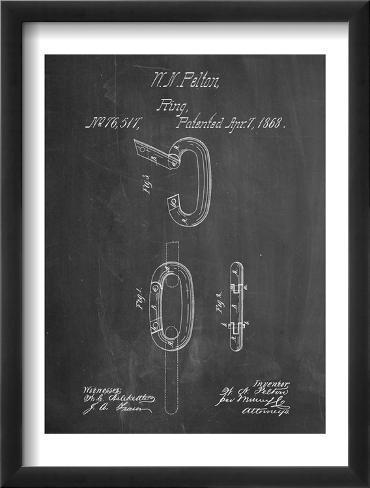 Caribiner Ring Patent Framed Art Print