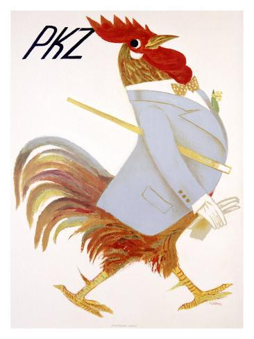 PKZ, Rooster Giclee Print