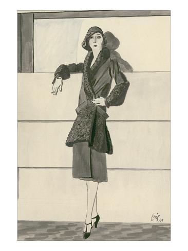 Vogue - September 1929 Stampa giclée premium
