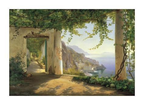 View to the Amalfi Coast Giclee Print