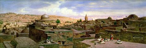 A View of Jerusalem, with the Dome of the Holy Rock Giclee Print